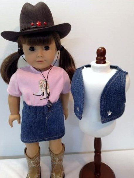 Cowgirl outfit for American Girl doll by NanaJerrisCreations, $32.00