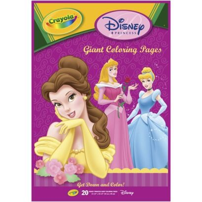 Crayola Disney Princess Giant Coloring BookSomething I Want For Vacation In July