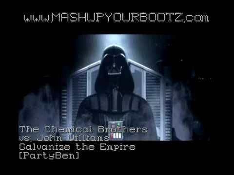 Audio Mashup: Chemical Brothers (Galvanize) w/ John Williams (The Empire Strikes Back). Video Mashup: Star Wars Trilogy / Chemical Brothers Video