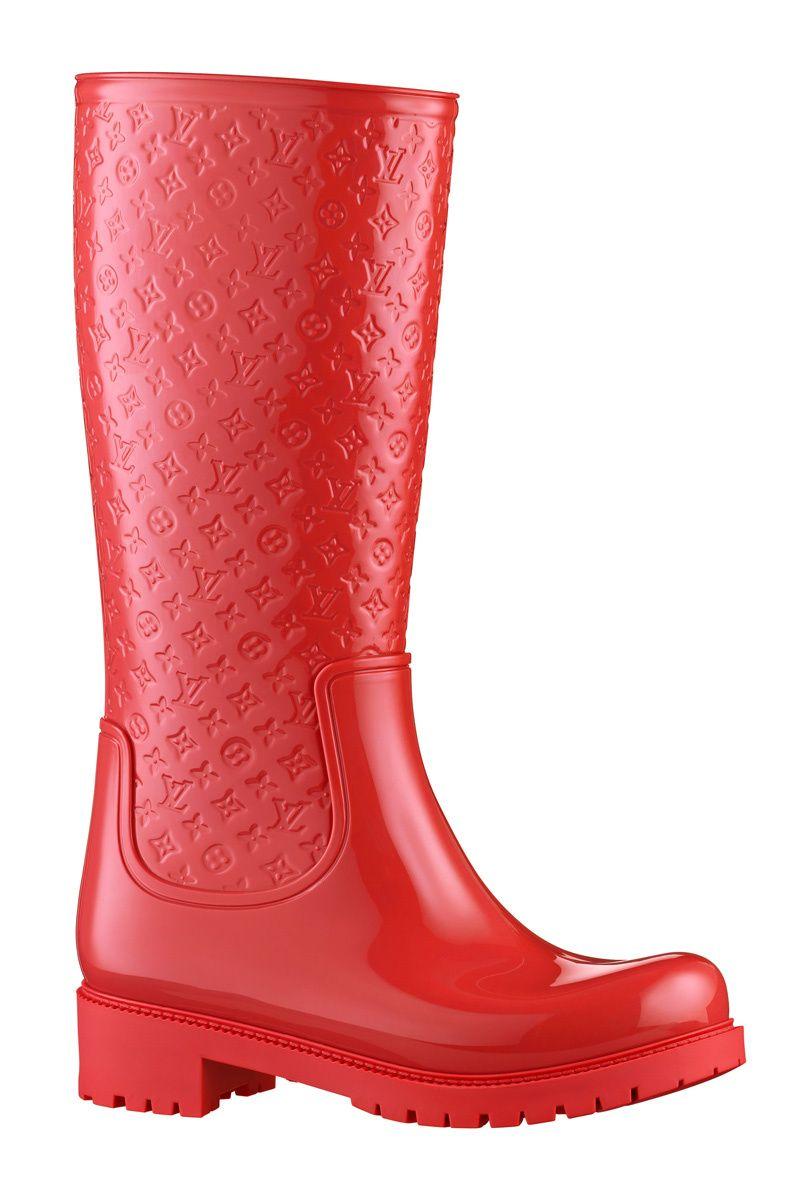5212ef9ce Botas de agua de Louis Vuitton... RED!