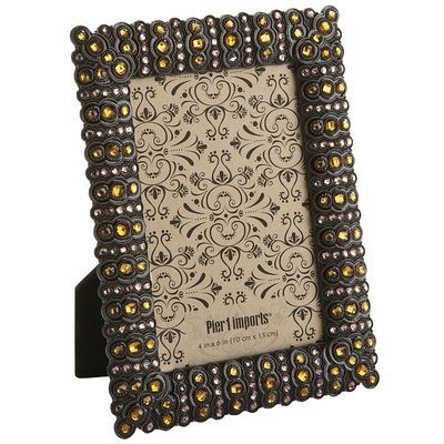 Your November birthday recipient can place a precious memory in this glass gem encrusted frame. Ember Jeweled Frame