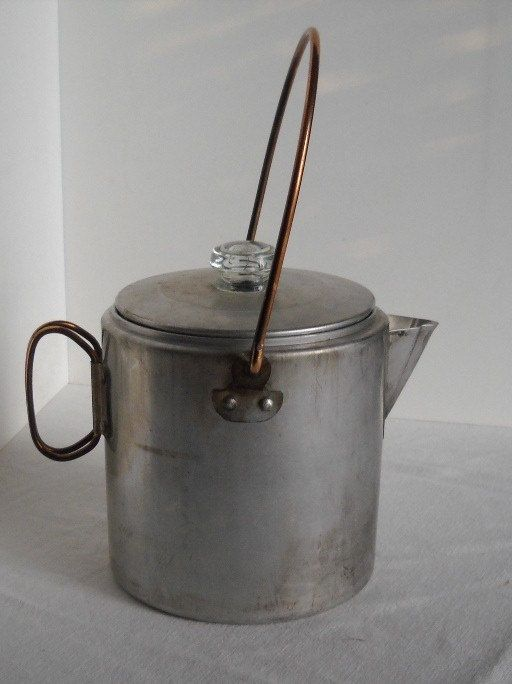 Vintage Aluminum Camp Fire Coffee Pot By Badarttoo On Etsy Going