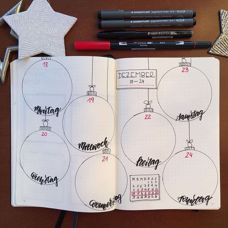 Eva EbnerTrebsche on Instagram So  the Christmas week would be over At least in the calendar     Bullet Journal Ideen Woche