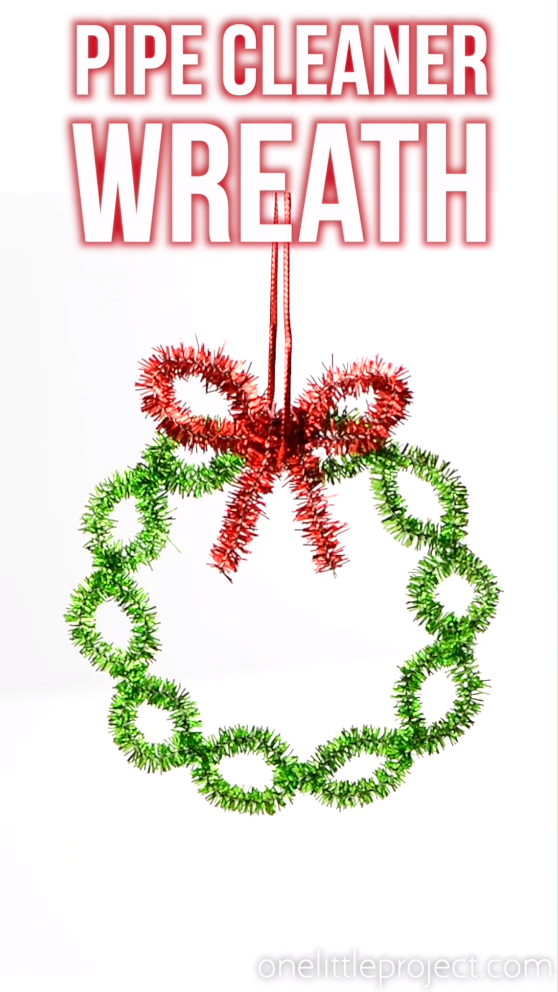 Easy Pipe Cleaner Wreath Ornaments
