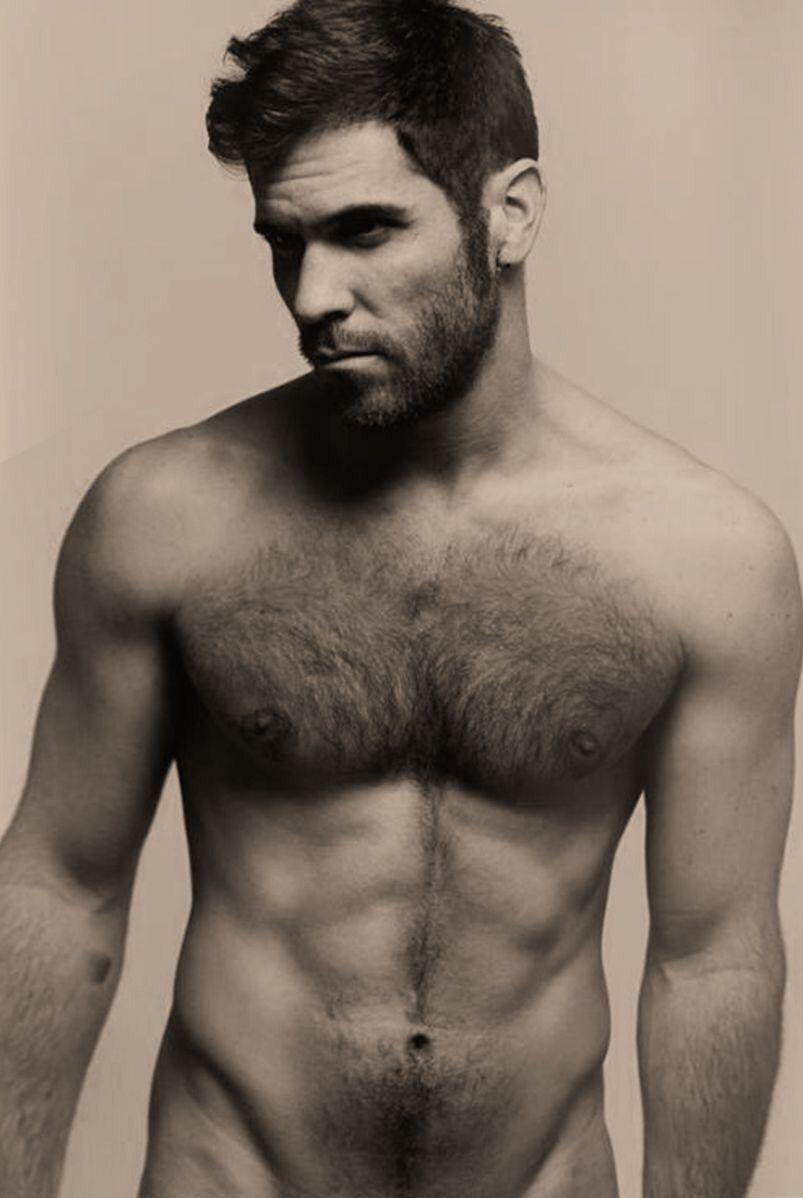 hår på bröstet män