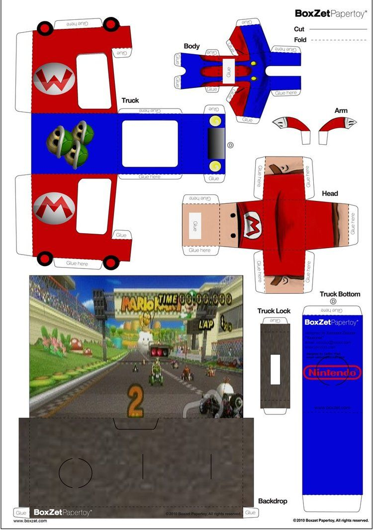 Mario Kart Papercraft Boxzet 2 By Cjrogue Party Dbolo Electronic Building Block Set 2008 Assembly For Kid Toy Circuit