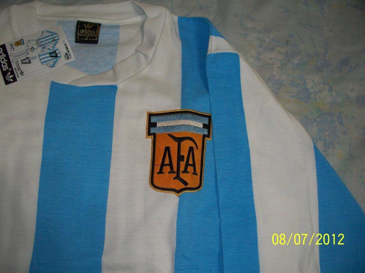 1dd2ad2ff8 Camiseta Argentina 78 Retro Kempes