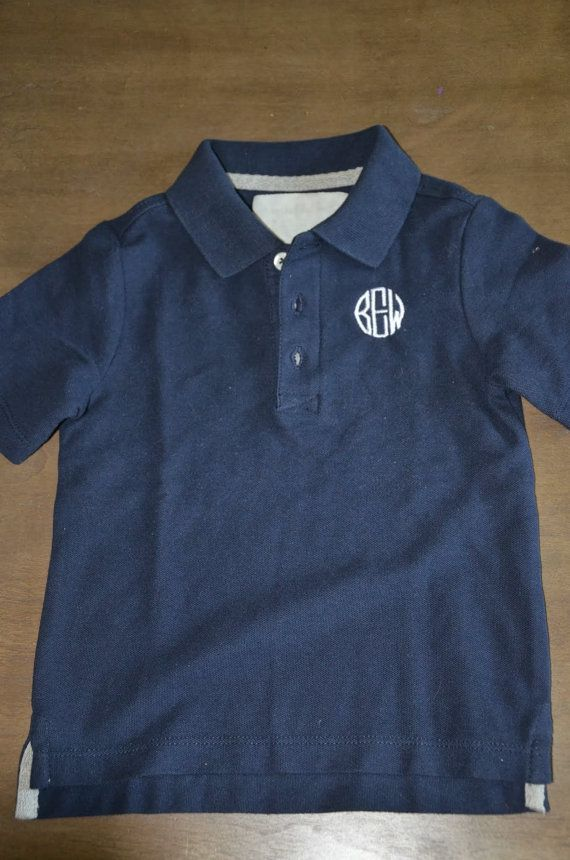 2ea1c7e56 Toddler Boy/Baby Boy Monogram Short Sleeve Polo Shirt | Buddy ...