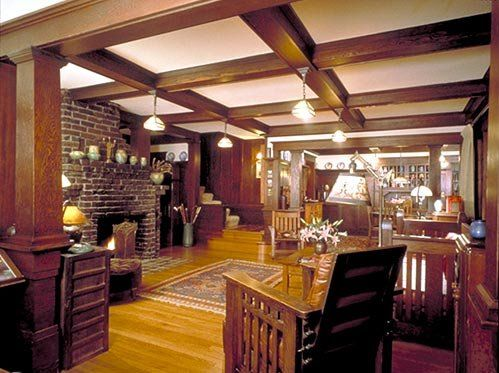 Craftsman style home interior design