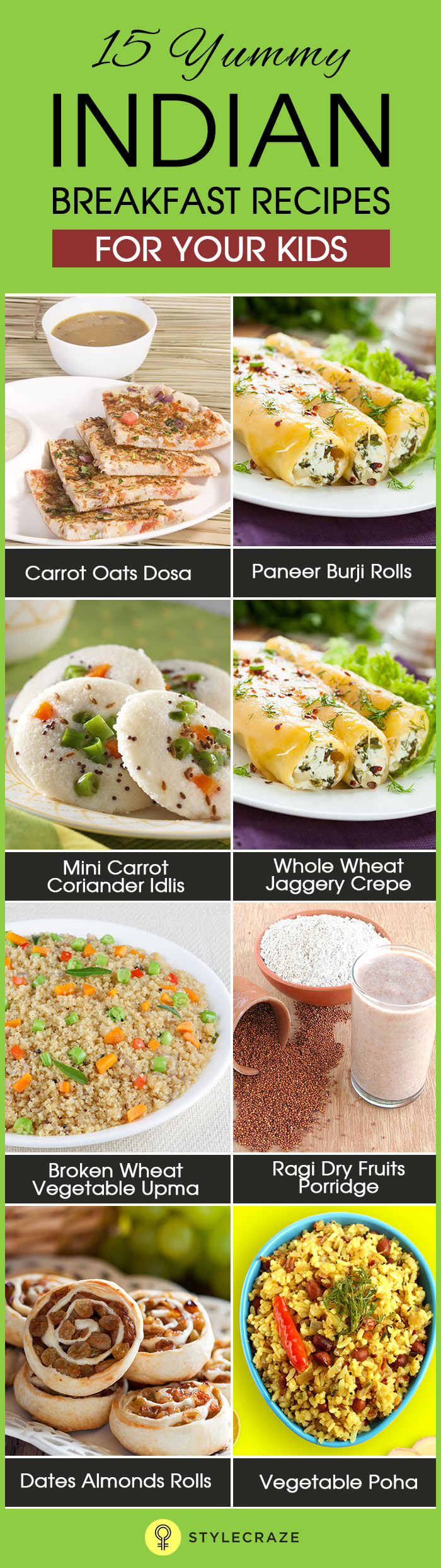 Top 15 Yummy Indian Breakfast Recipes For Your Kids pictures