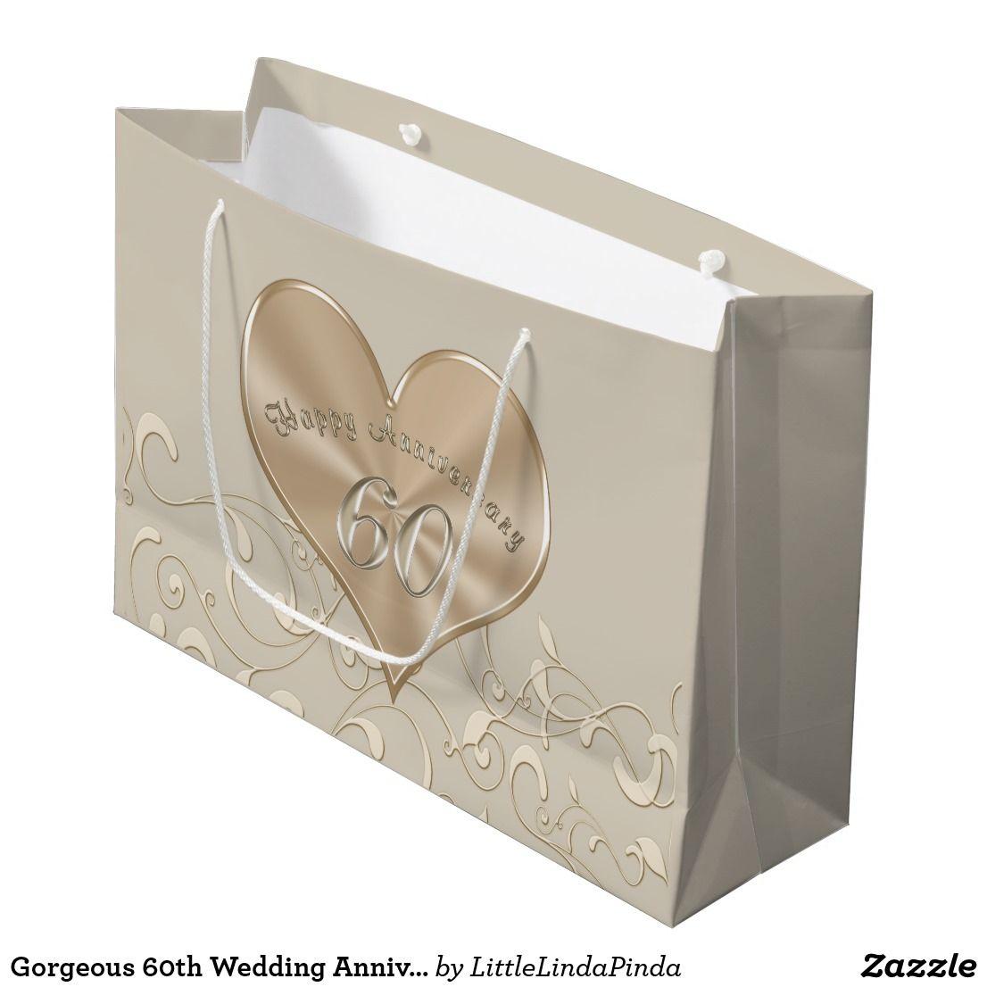 Gorgeous 60th Wedding Anniversary Gift Bags | 60 wedding anniversary ...