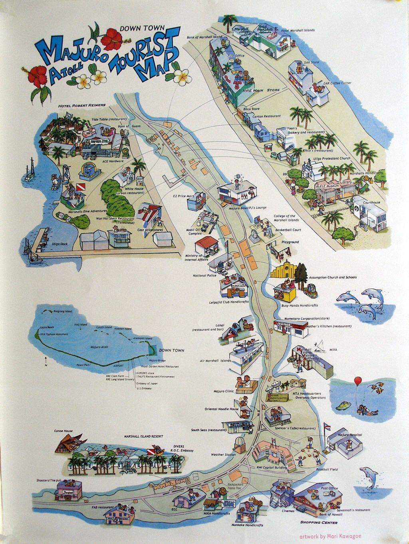 Downtown Majuro map Marshall Islands by Mari Kawagoe Pacific