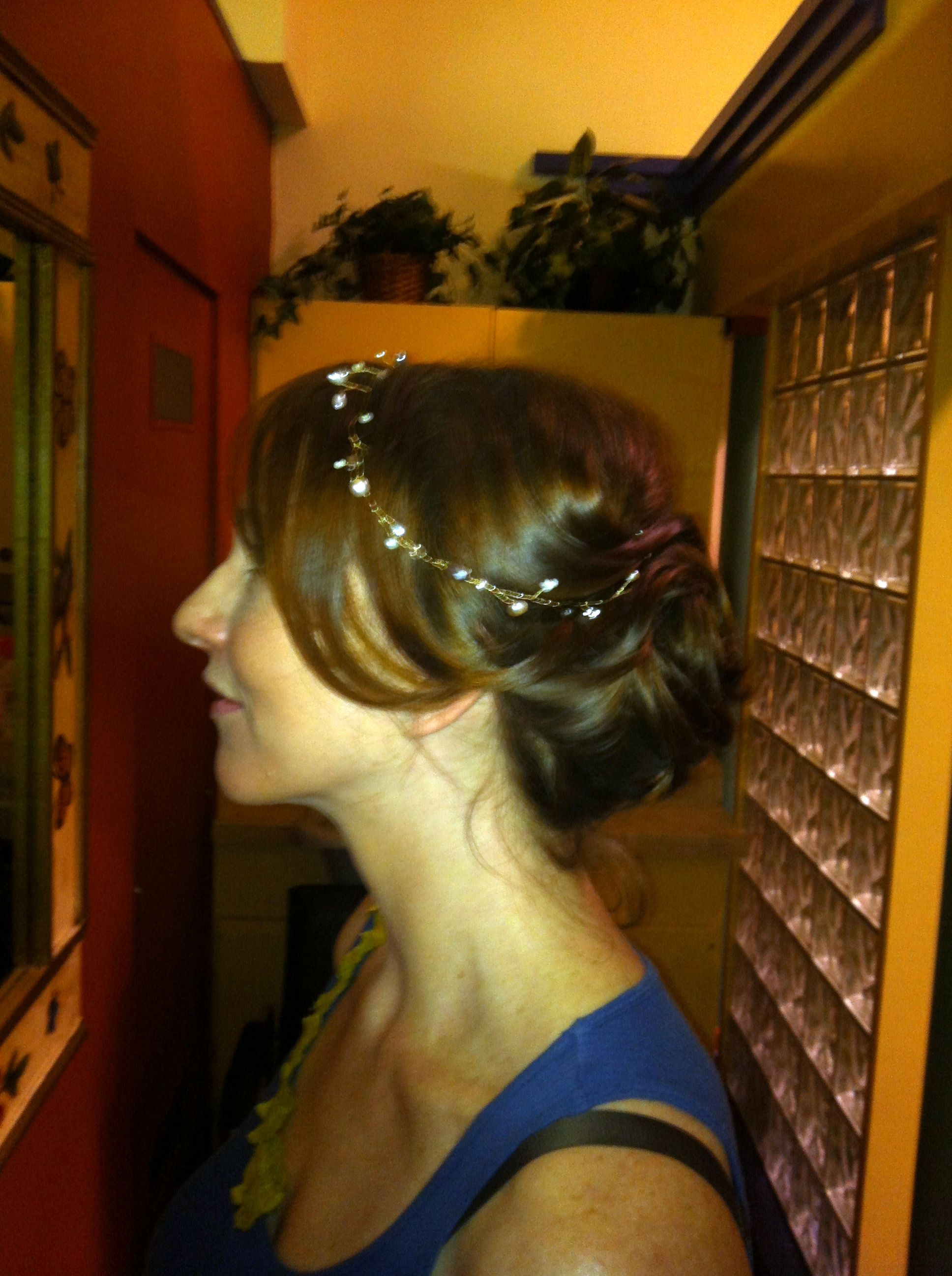 Hair trial updo side view bridal hair and makeup pinterest