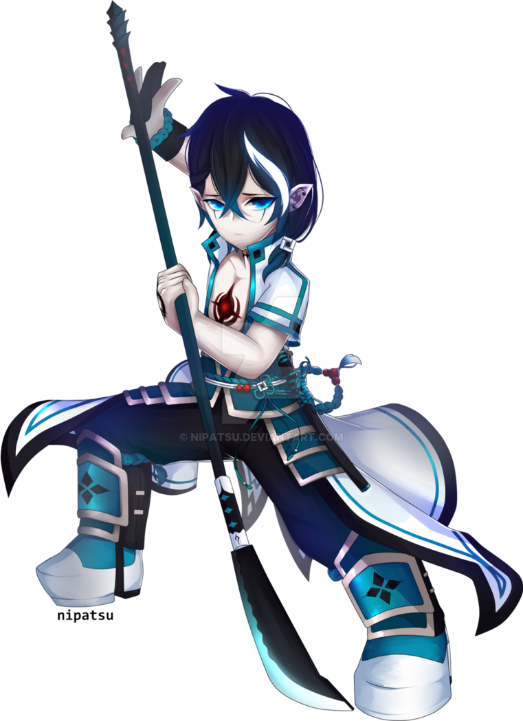 Render - Uno - Ronin by Nipatsu | Grand Chase in 2019
