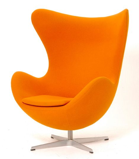 Chaise Oeuf Arne Jacobson Design Danois Home Ideas Furniture And - Fauteuil design orange