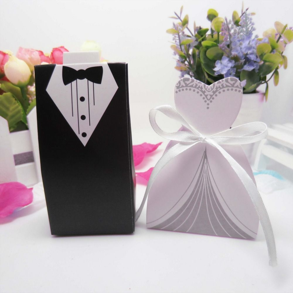 50pcs wedding decoration bride groom candy boxes wedding favor and 50pcs wedding decoration bride groom candy boxes wedding favor and gifts paper for mariage boda wedding decoration bomboniere junglespirit Image collections