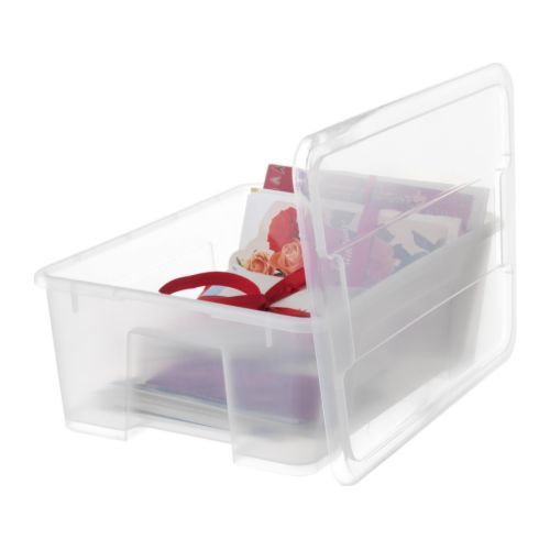 Ikea Boxen Samla : samla box with lid transparent samla box box mit deckel und kastendeckel ~ Watch28wear.com Haus und Dekorationen