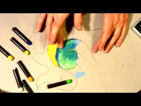 How To Paint Abstract Art Using Oil Pastels Easy