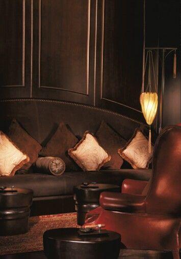 Woman cave lounge area