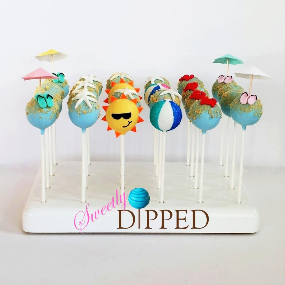 Fun Cake Pops Perfect For A Beach Party With Images Cake Pops