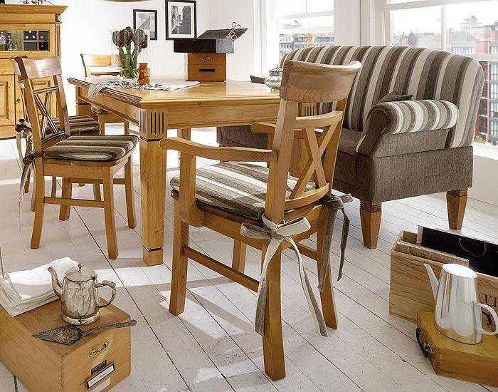 Tischsofa im Landhausstil passend zu Kiefernmöbeln von Pinus - esszimmer landhausstil modern