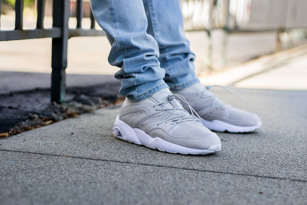 Puma Blaze of Glory Soft Glacier Grey On Feet Sneaker Review. PumasSneakerSlippersSneakersPlimsoll  ShoeTrainers