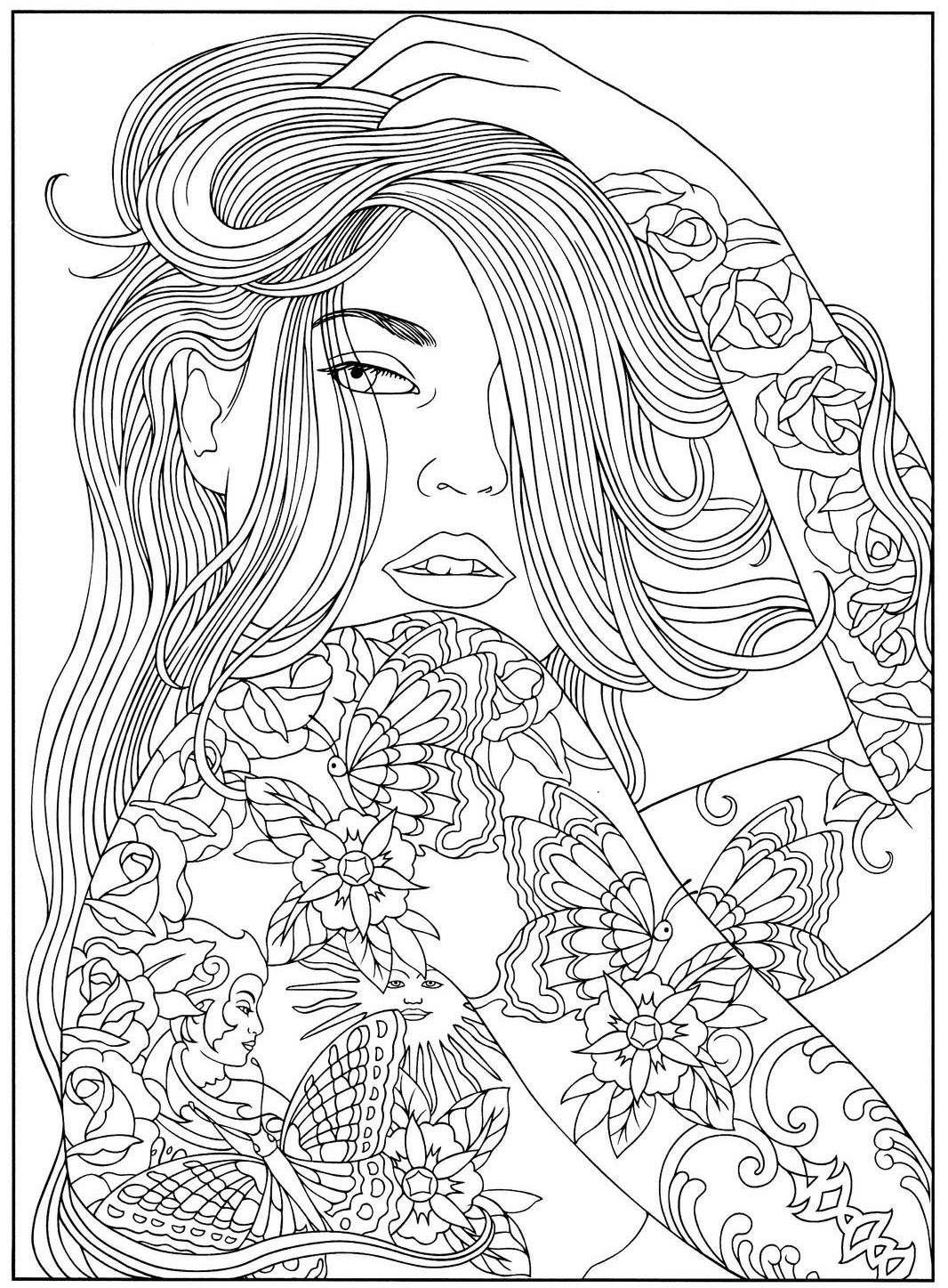 Pin By Evelien Bakker On Coloring Pages People Coloring Pages Mandala Coloring Pages Animal Coloring Pages