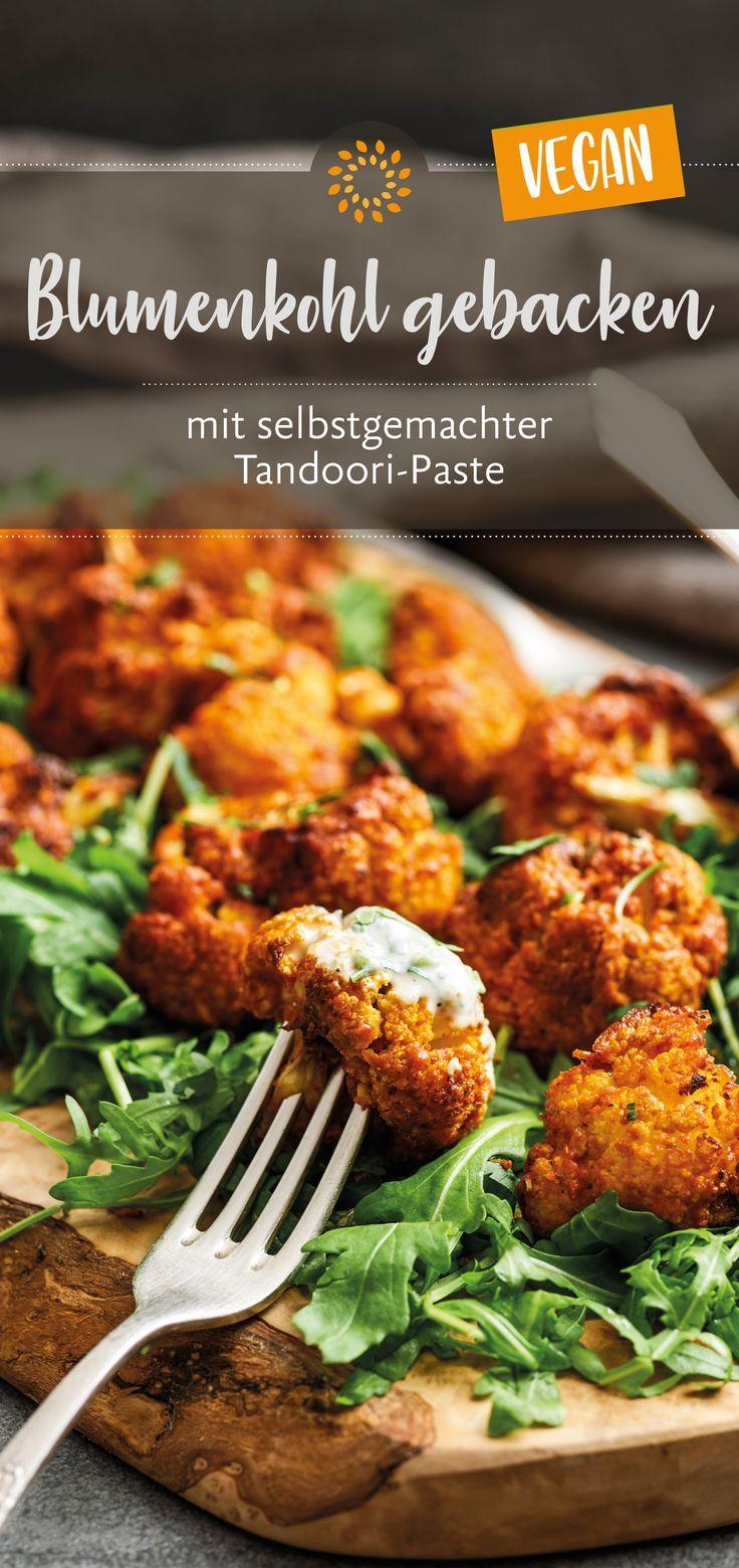 Blumenkohl gebacken – mit selbstgemachter Tandoori-Paste