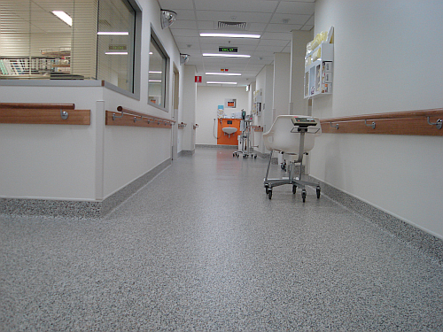 Eco Accolade Is A Low Voc Resilient Floor Covering Containing Post Consumer Recycled Pvc Content And Significant Post Vinyl Flooring Flooring Hospital Interior