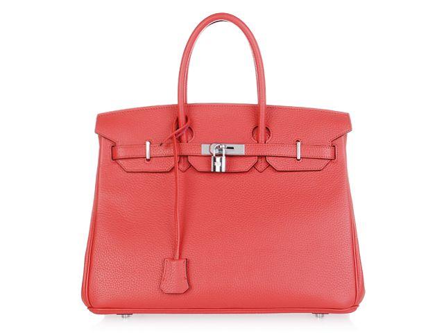 Hermes birkin bag in coral =]