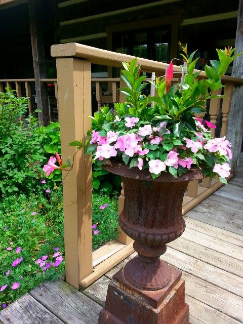 One of our old urns from Brimfield..cannot wait to get back there. .tom and debbie. .2015