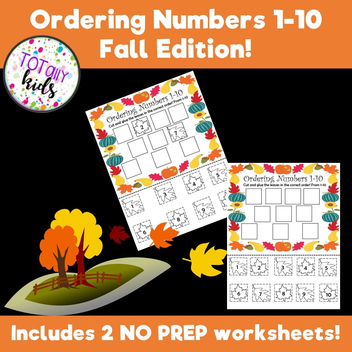 Ordering Numbers 1 10 Fall