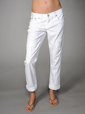 True Religion Jeans White Brianna Boyfriend