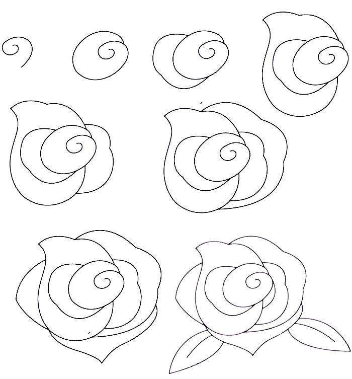 1001 + modèles et conseils pour apprendre comment dessiner une rose | Art stuff | Comment ...