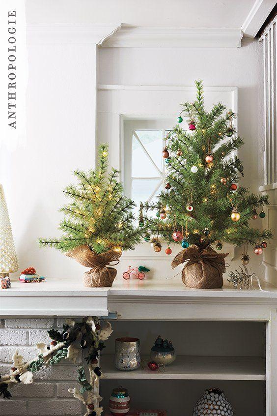 Burlap Wrapped Decorative Light Up Tree