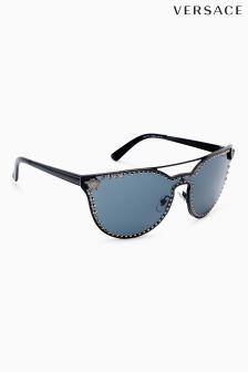 8d4502ec57c Versace Black Stud Rimless Cat Eye Sunglasses