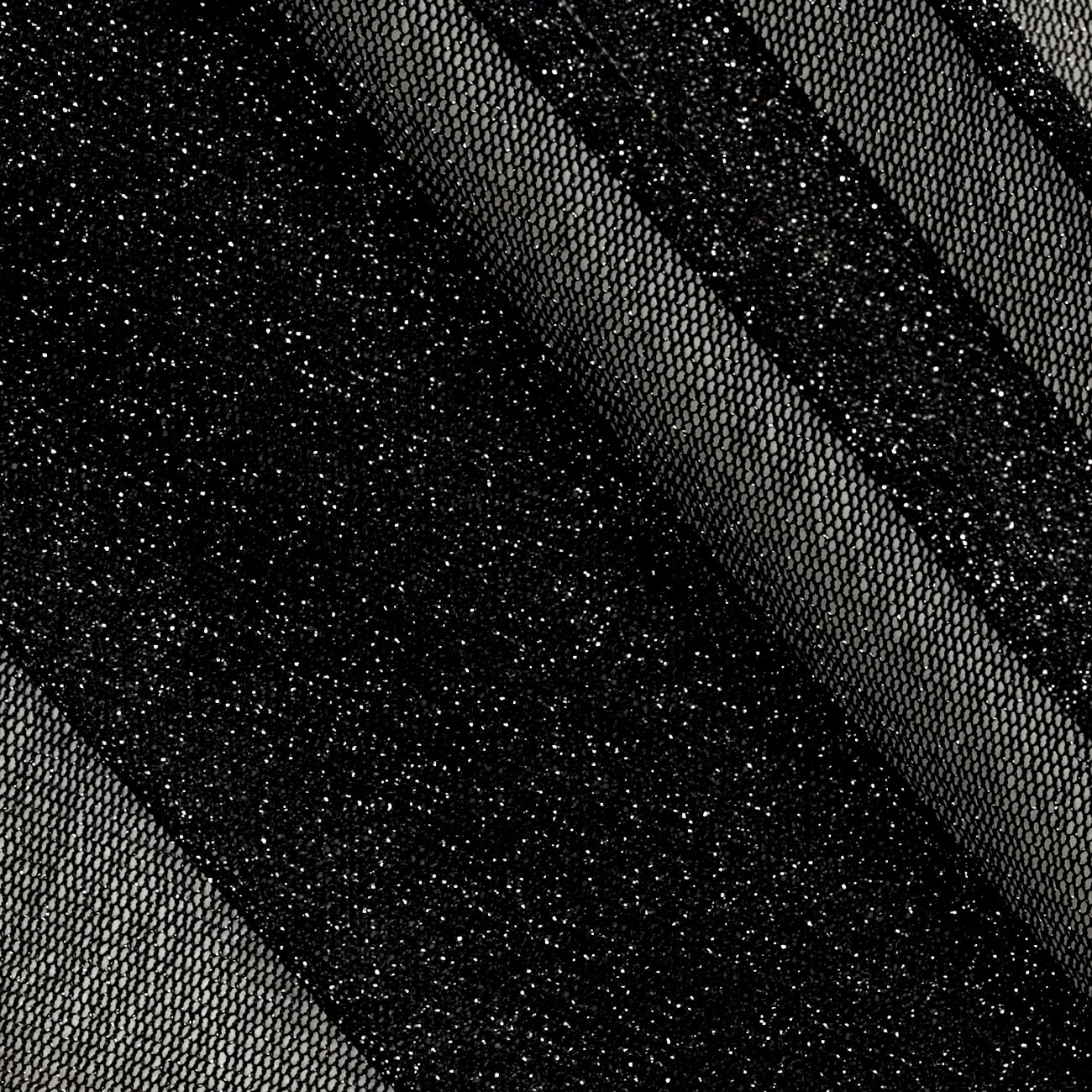 Metallic Mesh Knit Black/Silver Fabric By The Yard ...
