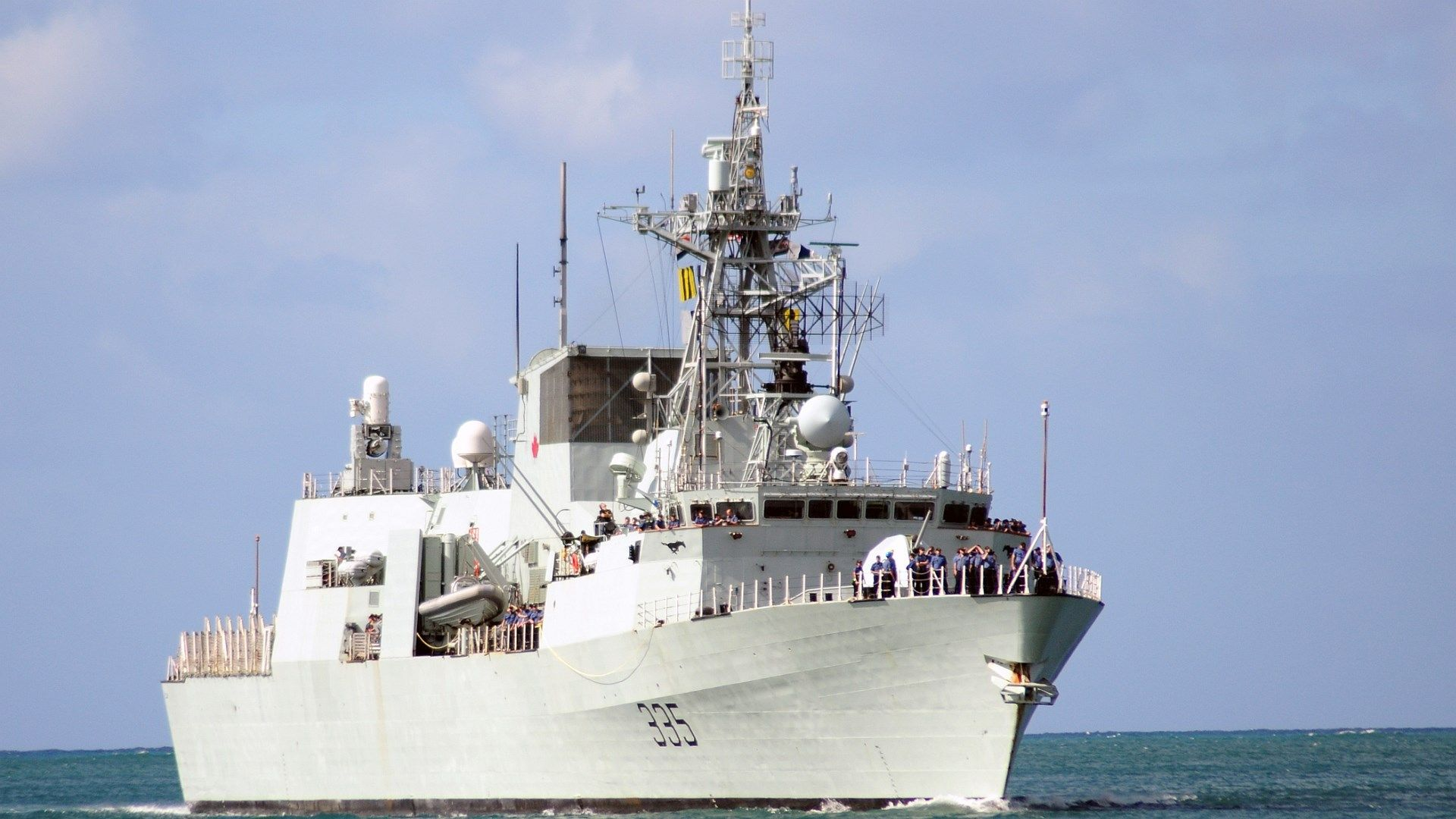 Hmcs Calgary Ffh 335 Themed 1920x1080 282 Kb Speedboats Royal Canadian Navy Navy Ships Fleet Week