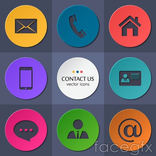 Free download round contacts icon vector free vector includes flat free download round contacts icon vector free vector includes flat with contact details reheart Choice Image