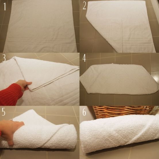 STEP 1. Fold the towel in half so that it makes a square | Towels ...