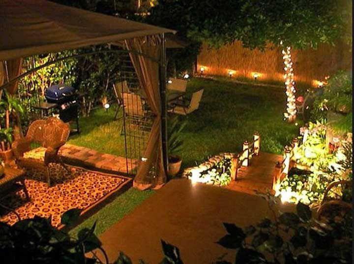 Outdoor Entertaining Areas Decoration Ideas Backyard Lights Party With  Planting Plants, Materials, Accessories And Furniture For Decorative Outdoor  Home ...