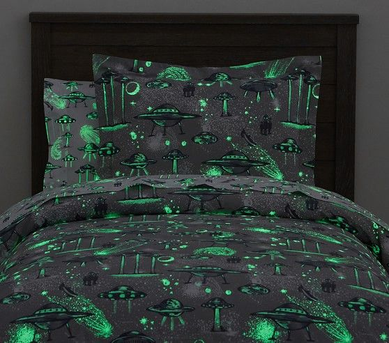 Space Ship Glow In The Dark Duvet Cover Small Bedroom
