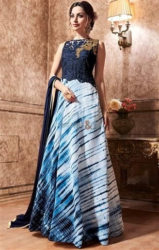 Stylish Designer Indo Western Gown Online India For Wedding Party ...