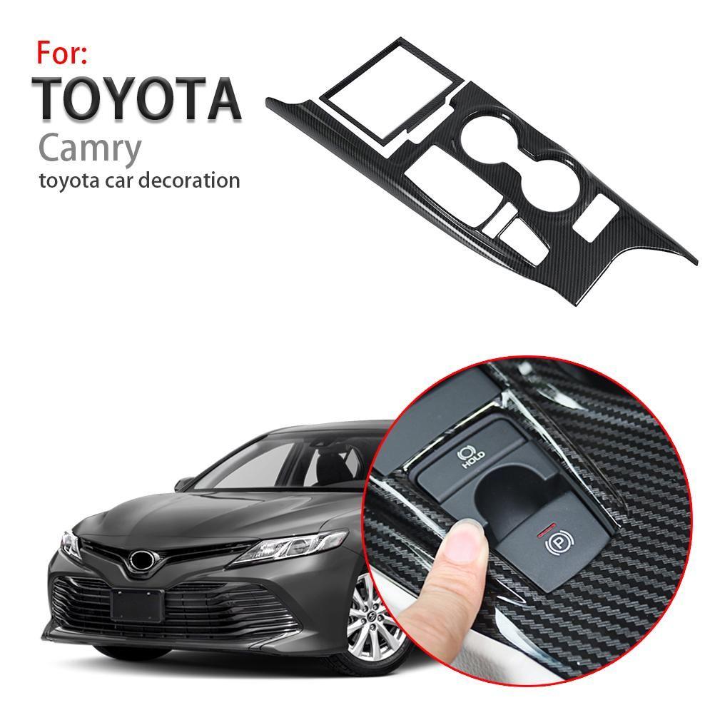 For TOYOTA CAMRY 2018 Carbon Fiber Inner Shift Box Panel Frame Cover Trim Useful