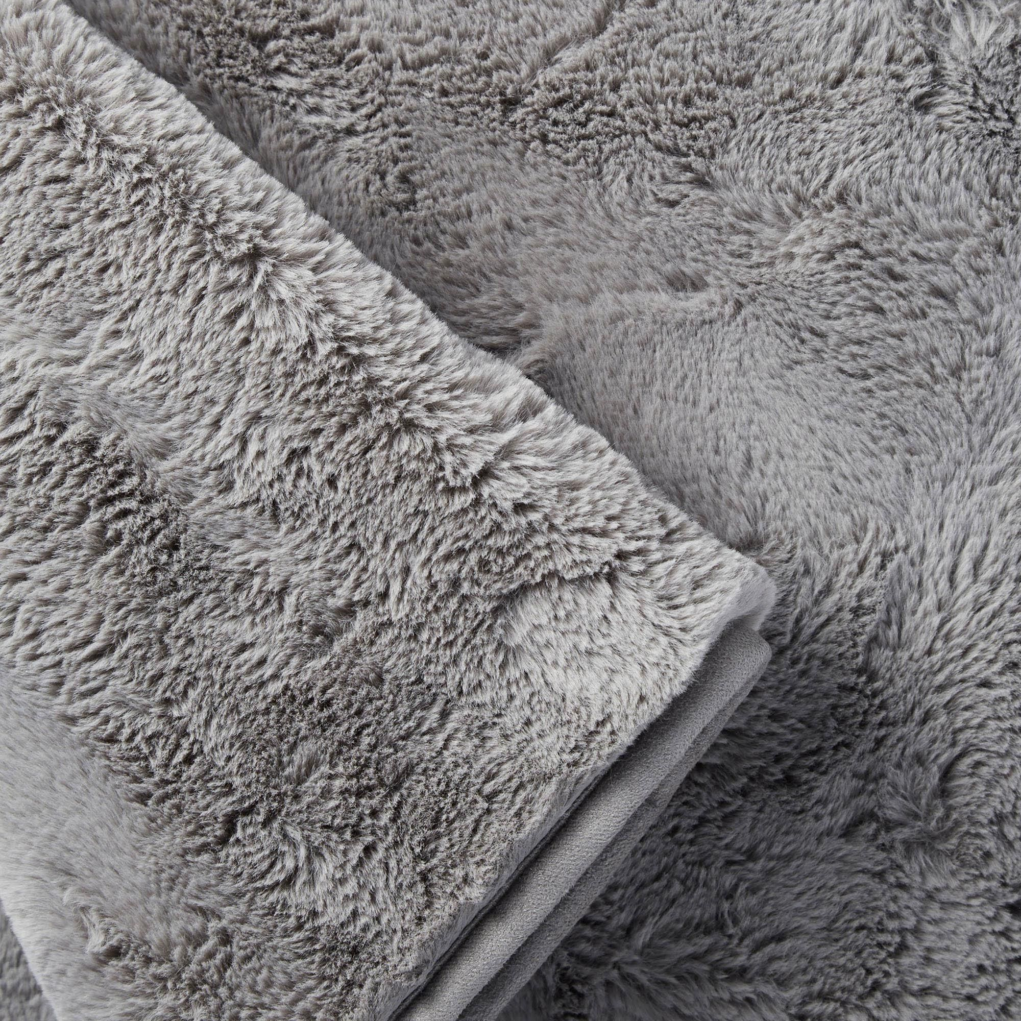 Stunning KILBURN /& SCOTT Super Soft Fleece Grey//Silver Throw