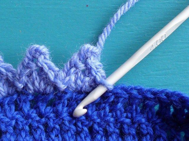 Pointed edges crochet tutorial