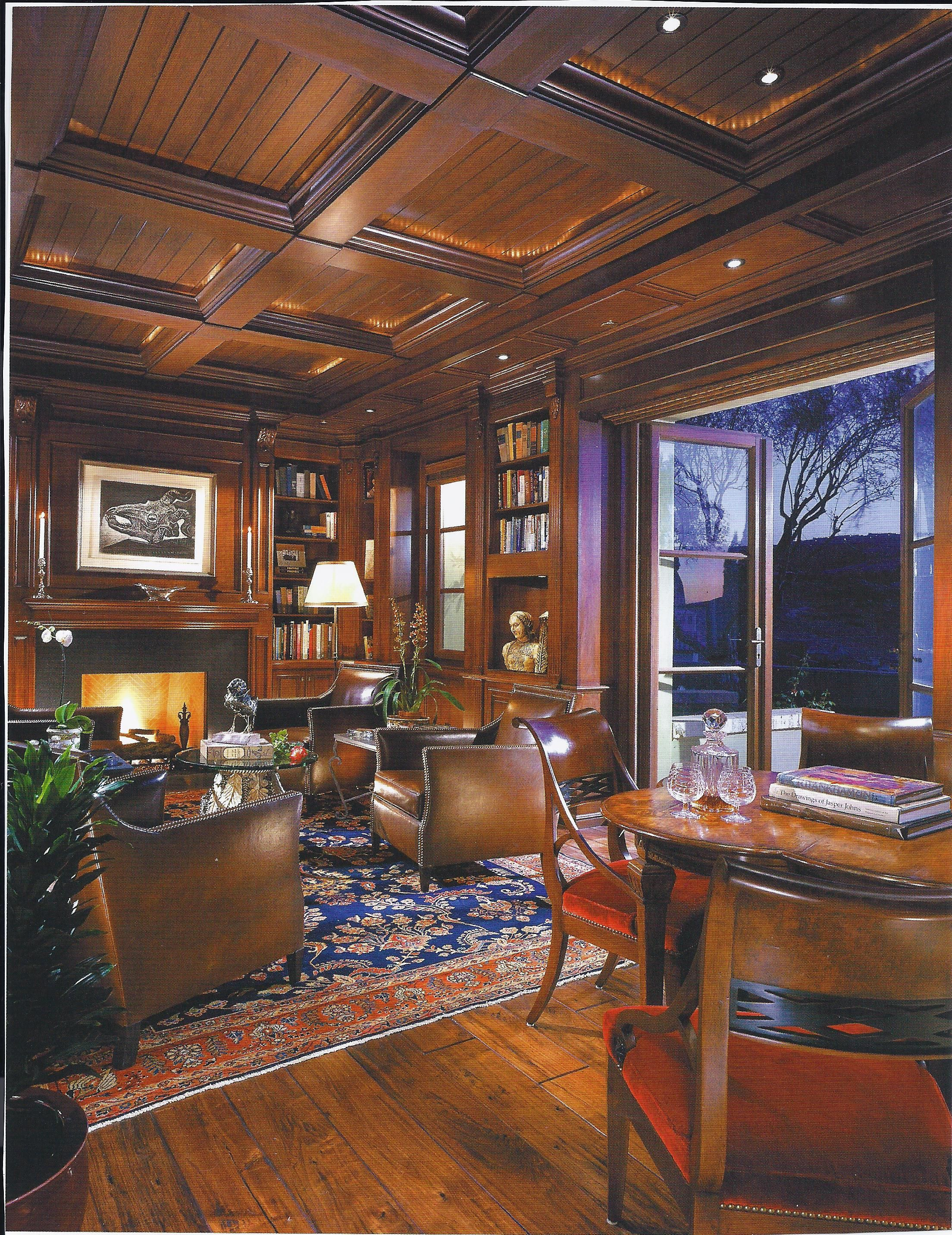 Love The Ceiling And Built Ins