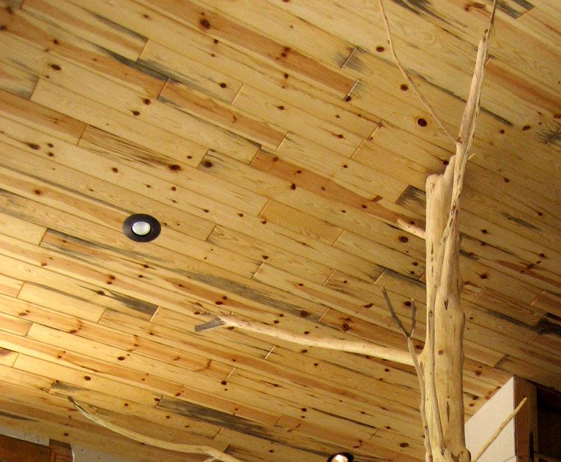 Blue Knotty Pine Paneling Planned For Top 1 2 Of Basement Walls 1 2 Log Siding On The Bottom
