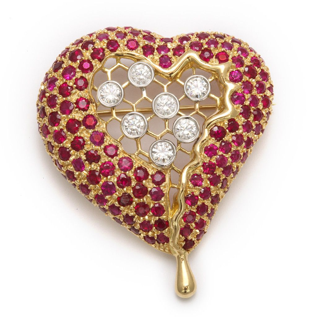 Russian Antique Hearts | ... Heart Brooch | - FABERGE, Antique Jewelry, Russian Art, Antiques, Gold