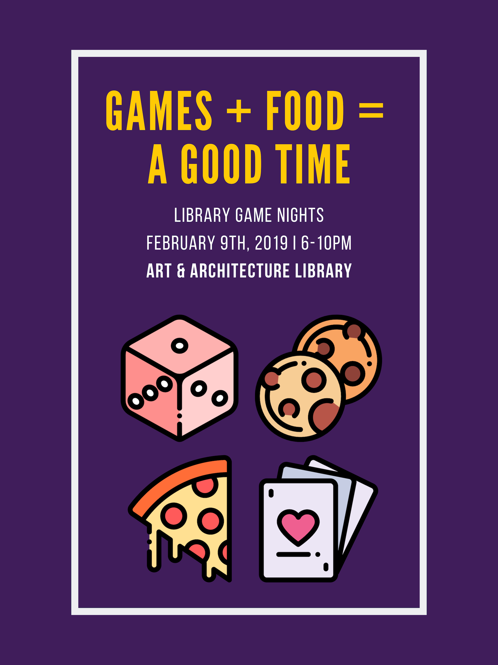 Game Night Poster Library Games Game Night Game Food